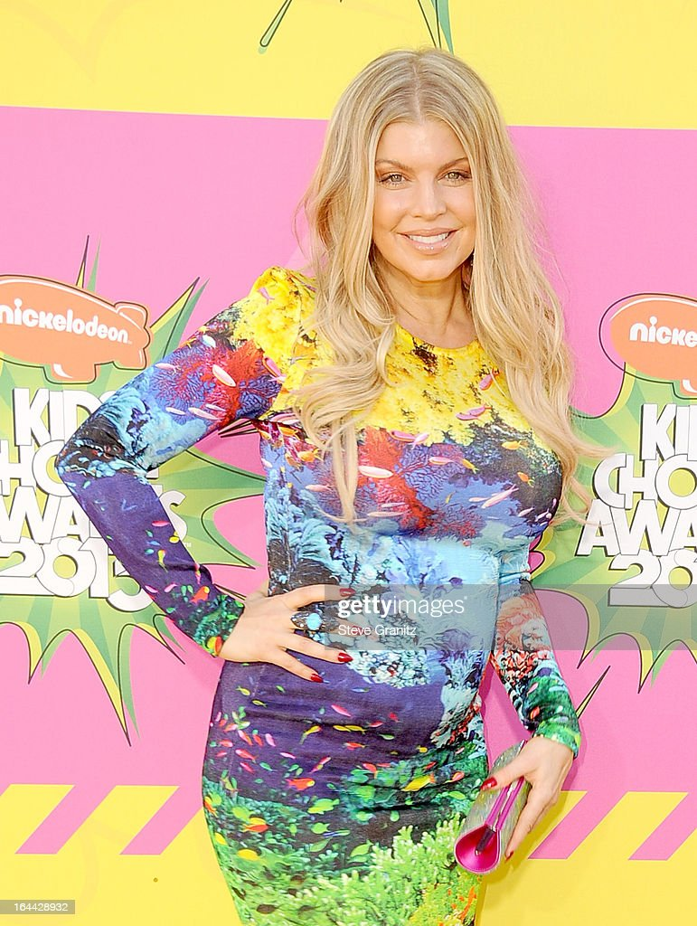 Singer Fergie arrives at Nickelodeon's 26th Annual Kids' Choice Awards at USC Galen Center on March 23, 2013 in Los Angeles, California.