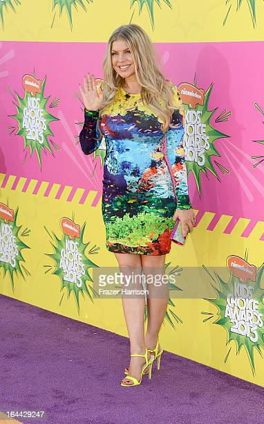 Singer Fergie arrives at Nickelodeon's 26th Annual Kids' Choice Awards at USC Galen Center on March 23 2013 in Los Angeles California