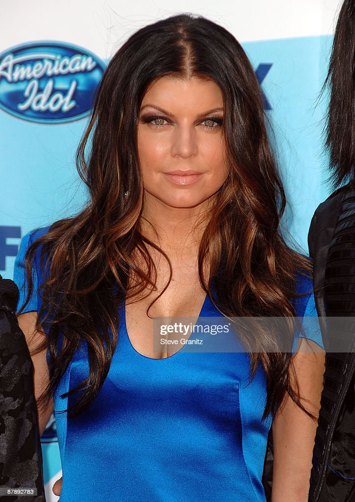 Singer Fergie arrives at the American Idol Season 8 Grand Finale held at Nokia Theatre L.A. Live on May 20, 2009 in Los Angeles, California.