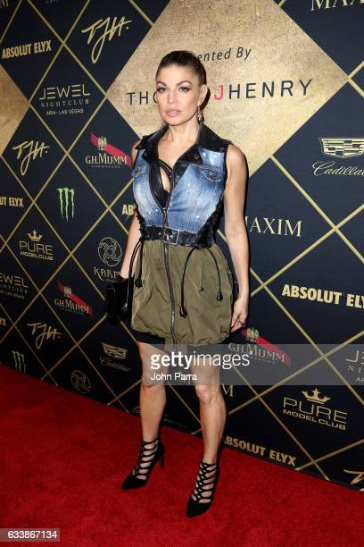 Singer Fergie arrives at the Maxim Super Bowl Party on February 5 2017 in Houston Texas