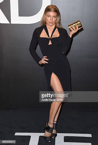 Singer Fergie arrives at the Tom Ford Autumn/Winter 2015 Womenswear Collection Presentation at Milk Studios on February 20 2015 in Los Angeles...