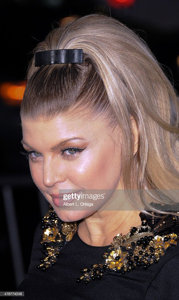 Singer Fergie arrives for the Premiere Of Relativity Media's 'Safe Haven' held at The TCL Chinese Theater on February 5, 2013 in Hollywood, California.