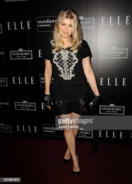Singer Fergie attends ELLE Sundance Channel's celebration of 'All On The Line With Joe Zee' at Soho House on September 19 2012 in West Hollywood...