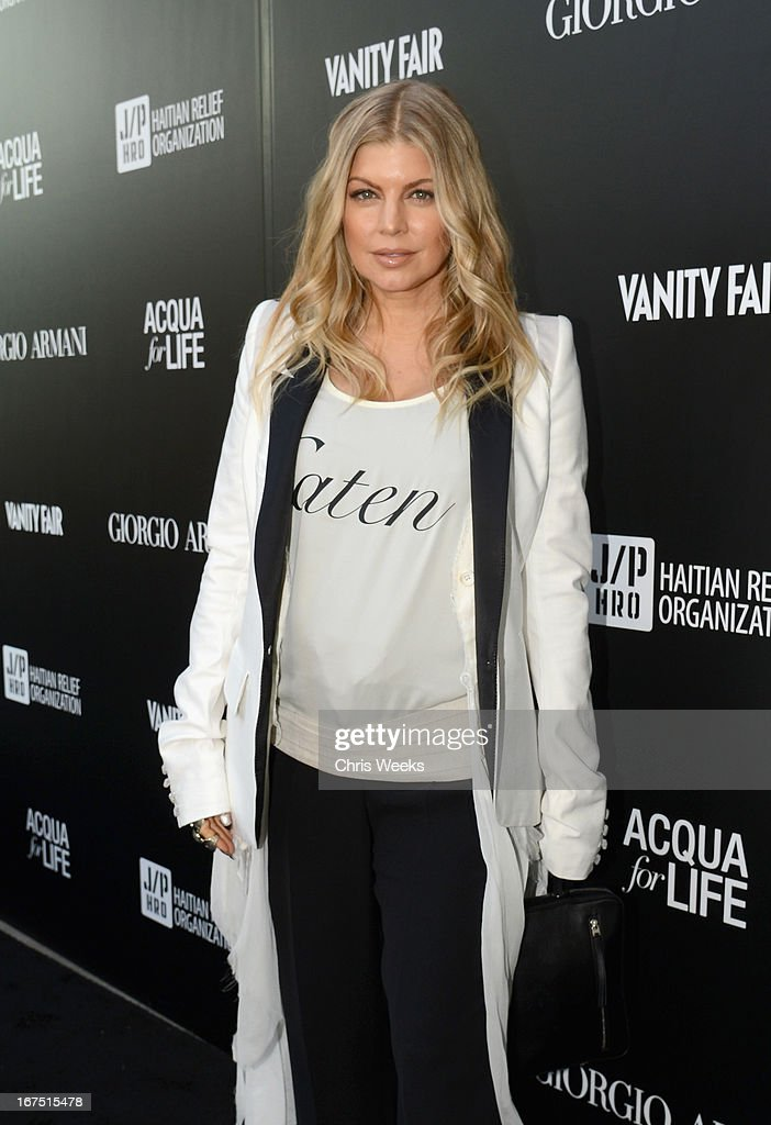 Singer Fergie attends Giorgio Armani Paris Photo LA Acqua #3 at Paramount Studios on April 25, 2013 in Los Angeles, California.