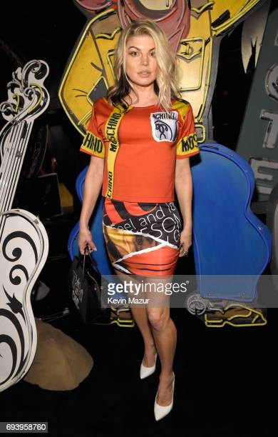 Singer Fergie attends Moschino Spring/Summer 18 Menswear and Women's Resort Collection at Milk Studios on June 8 2017 in Hollywood California
