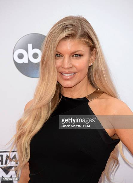 Singer Fergie attends the 2014 American Music Awards at Nokia Theatre LA Live on November 23 2014 in Los Angeles California