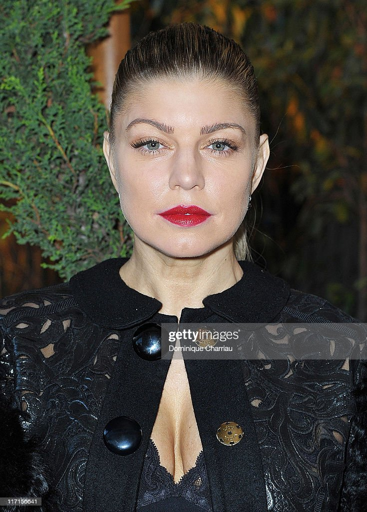 Singer Fergie attends the 25th amfAR Inspiration Gala at Pavillon Gabriel on June 23, 2011 in Paris, France.