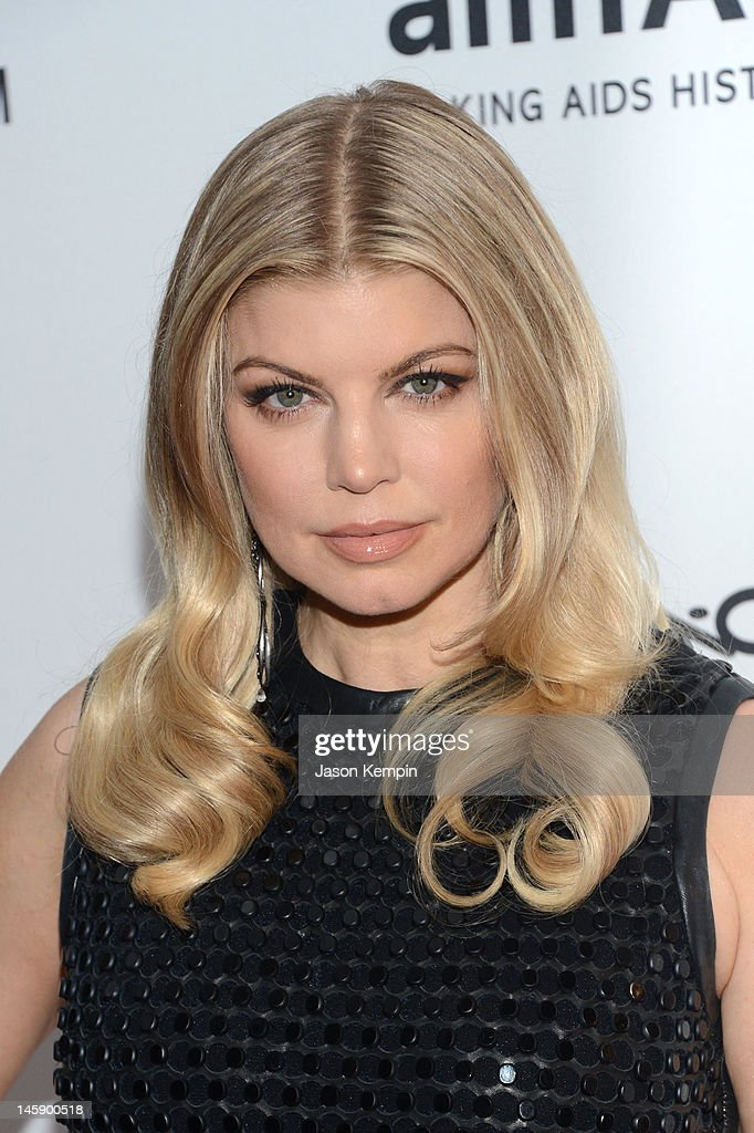 Singer Fergie attends the 3rd annual amfAR Inspiration Gala New York at The New York Public Library - Stephen A. Schwarzman Building on June 7, 2012 in New York City.
