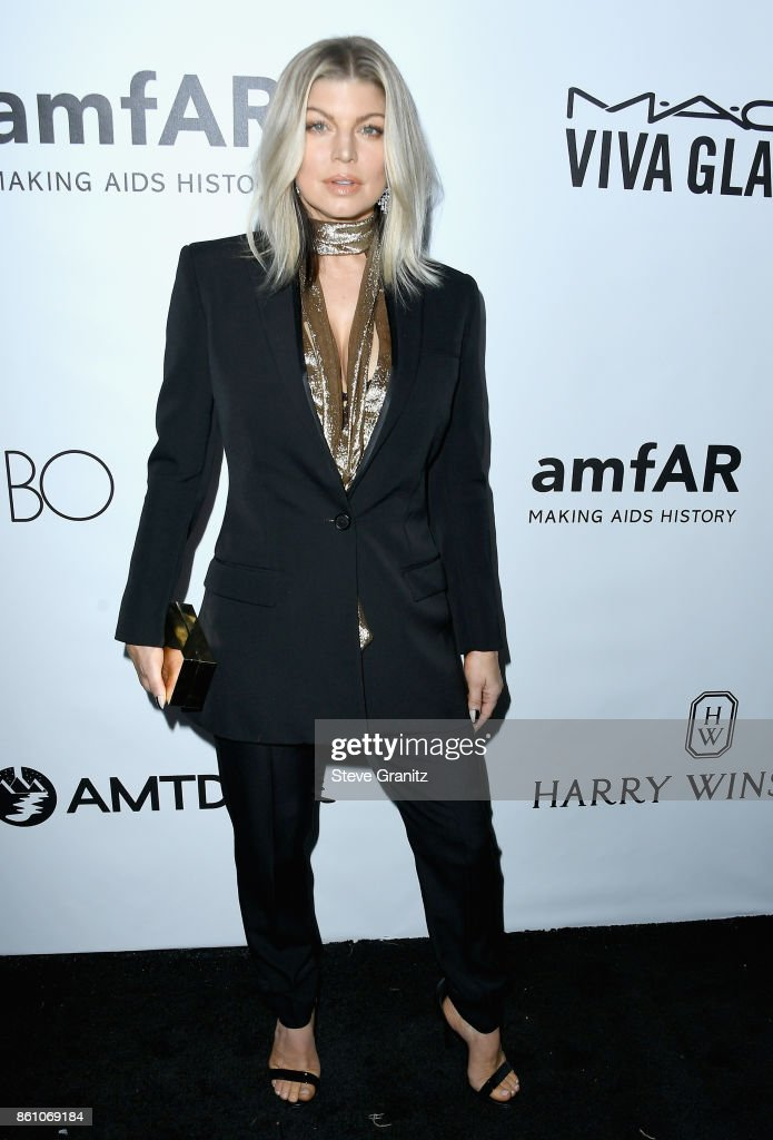 Singer Fergie attends the amfAR Gala 2017 at Ron Burkle's Green Acres Estate on October 13, 2017 in Beverly Hills, California.