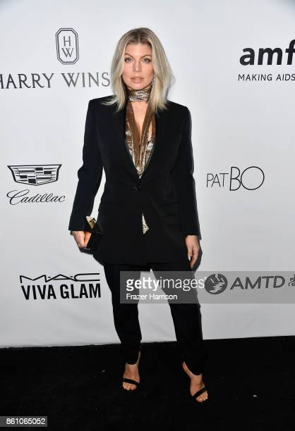 Singer Fergie attends the amfAR Gala at Ron Burkle's Green Acres Estate on October 13 2017 in Beverly Hills California