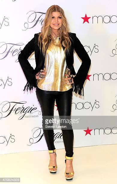 Singer Fergie Duhamel appears at Macy's at the Fashion Show mall to promote her Fergie Footwear collection on February 19 2014 in Las Vegas Nevada