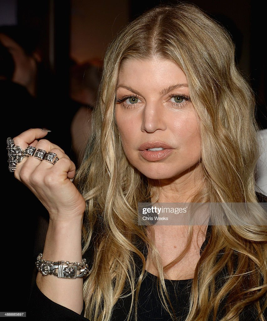 Singer <a gi-track='captionPersonalityLinkClicked' href=/galleries/search?phrase=Fergie+Duhamel&family=editorial&specificpeople=171894 ng-click='$event.stopPropagation()'>Fergie Duhamel</a> attends Chrome Hearts & Kate Hudson Host Garden Party To Celebrate Collaboration at Chrome Hearts on May 8, 2014 in Los Angeles, California.