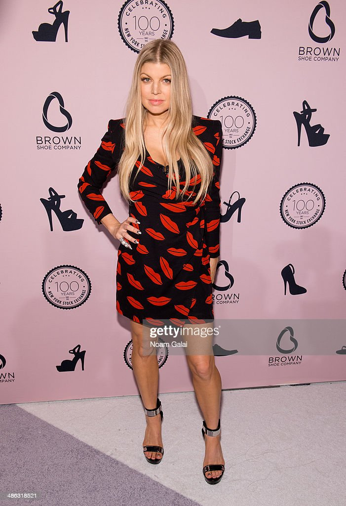 Singer <a gi-track='captionPersonalityLinkClicked' href=/galleries/search?phrase=Fergie+Duhamel&family=editorial&specificpeople=171894 ng-click='$event.stopPropagation()'>Fergie Duhamel</a> attends the Brown Shoe Company Celebrates 100 Years on New York Stock Exchange event at 4 World Trade Center on April 23, 2014 in New York City.
