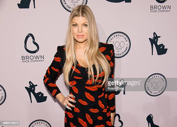 Singer Fergie Duhamel attends the Brown Shoe Company Celebrates 100 Years on New York Stock Exchange event at 4 World Trade Center on April 23 2014...