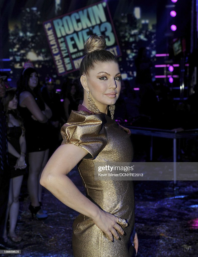 Singer Fergie hosts Dick Clark's New Year's Rockin' Eve at CBS studios on December 31, 2012 in Los Angeles, California.