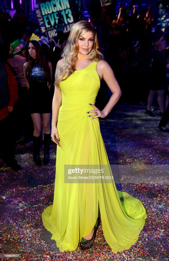Singer Fergie hosts Dick Clark's New Year's Rockin' Eve at CBS studios on December 31, 2012 in Los Angeles, California.