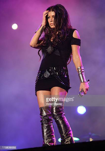 Singer Fergie of The Black Eyed Peas performs onstage during the 2009 Goliath Festival at Alameda Poniente Santa Fe on December 6 2009 in Mexico City...