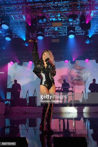 Singer Fergie performs onstage during the 13th Annual ESPN The Party on February 3 2017 in Houston Texas