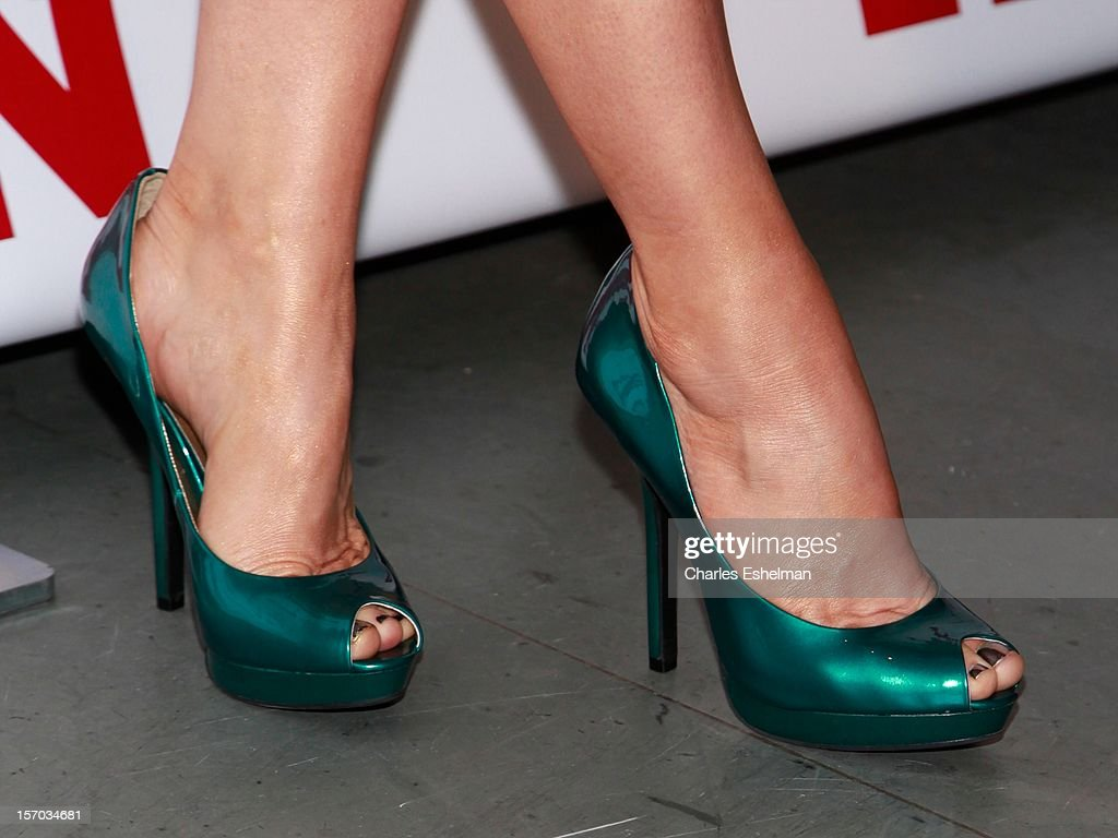 Singer Fergie' shoes at the 2012 Footwear News Achievement awards at The Museum of Modern Art on November 27, 2012 in New York City.
