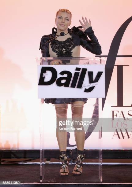 Singer Fergie speaks onstage during the Daily Front Row's 3rd Annual Fashion Los Angeles Awards at Sunset Tower Hotel on April 2 2017 in West...