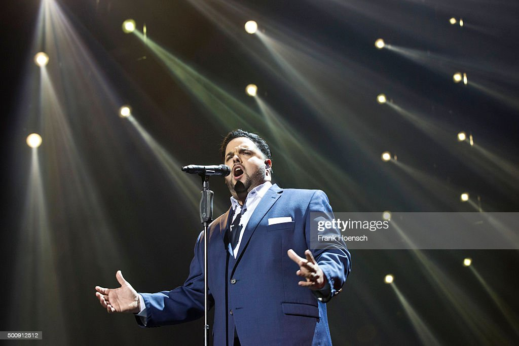 Singer Fernando Varela performs live during the Night of the Proms 2015 at the Mercedes-Benz Arena on December 8, 2015 in Berlin, Germany.