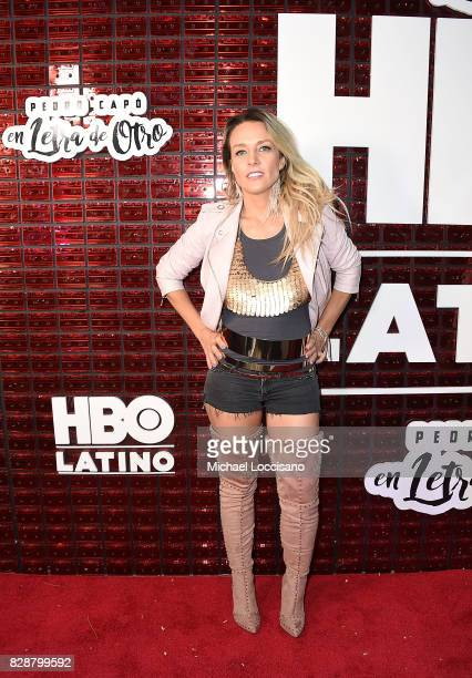 Singer Fey attends HBO Latino x Pedro Capo En Letra de Otro at La Marina Restaurant Bar Beach Lounge on August 9 2017 in New York City