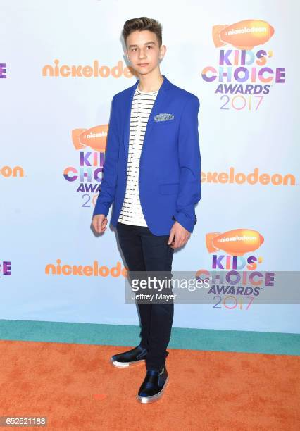 Singer Finn Matthews arrives at the Nickelodeon's 2017 Kids' Choice Awards at USC Galen Center on March 11 2017 in Los Angeles California
