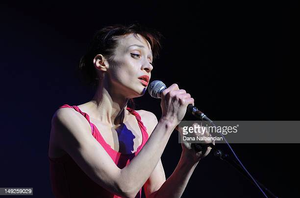 Singer Fiona Apple performs at Paramount Theatre on July 25 2012 in Seattle Washington