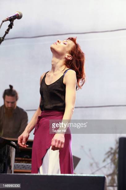 Singer Fiona Apple performs during the 2012 Governors Ball Music Festival at Randall's Island on June 24 2012 in New York City