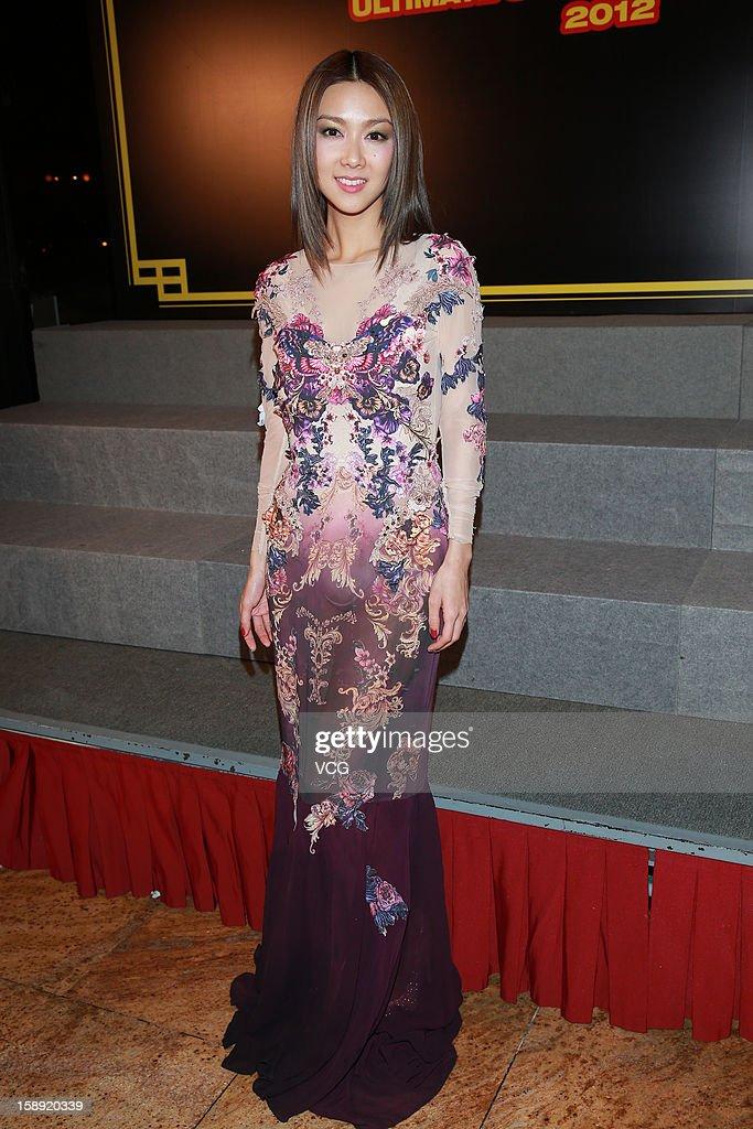 Singer Fiona Sit attends 2012 Chic Chak Music Awards at Hong Kong Convention and Exhibition Center on January 2, 2013 in Hong Kong, Hong Kong.