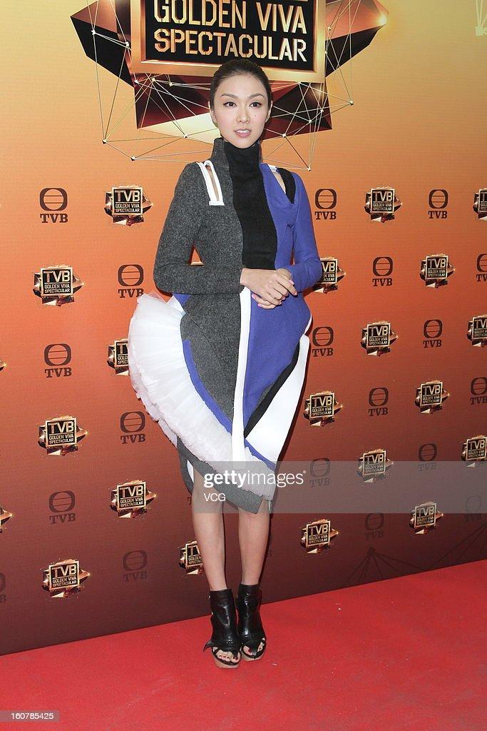 Singer Fiona Sit attends TVB Golden Viva Spectacular at TVB City on February 5, 2013 in Hong Kong.