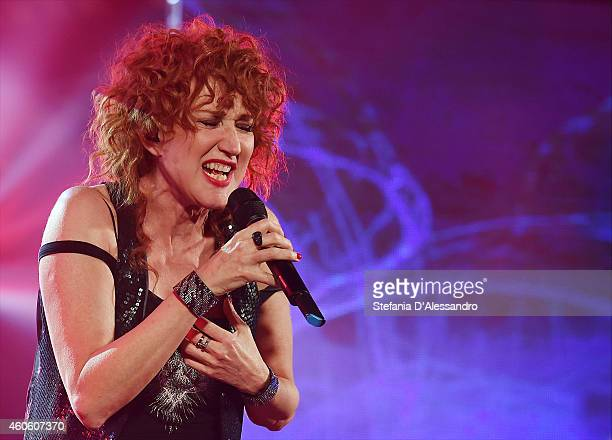 Singer Fiorella Mannoia performs live at RadioItaliaLive on December 17 2014 in Milan Italy