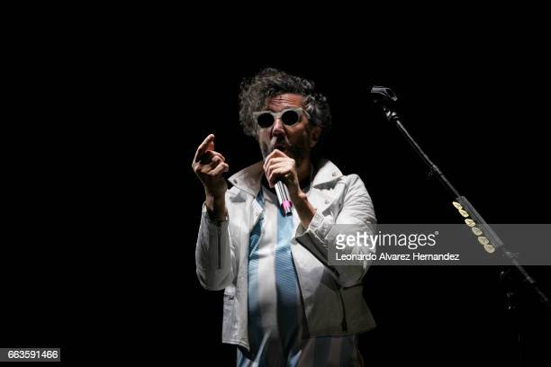Singer Fito Paez performs at the stage during the Roxy Festival Guadalajara 2017 at Trasloma Park on April 01 2017 in Guadalajara Mexico