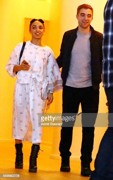 Singer FKA Twigs and Robert Pattinson attend a Surface Magazine Event With Hans Ulrich Obrist And FKA Twigs at Edition Hotel on December 4 2014 in...