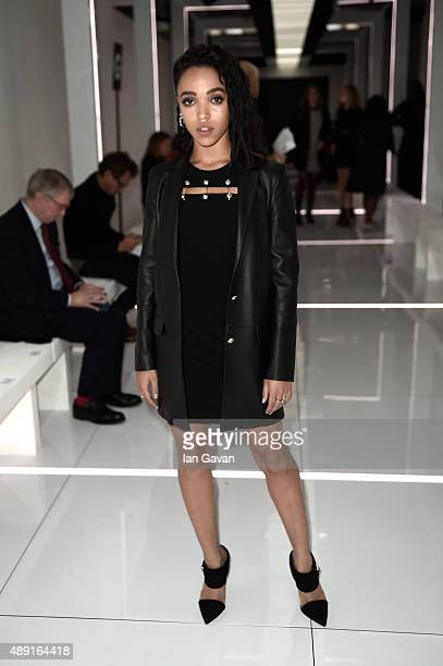 Singer FKA twigs attends the Versus show during London Fashion Week SS16 on September 19 2015 in London England