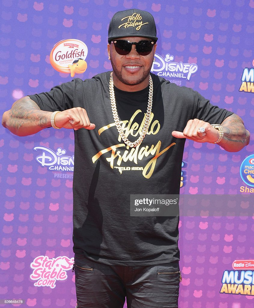 Singer Flo Rida arrives at the 2016 Radio Disney Music Awards at Microsoft Theater on April 30, 2016 in Los Angeles, California.