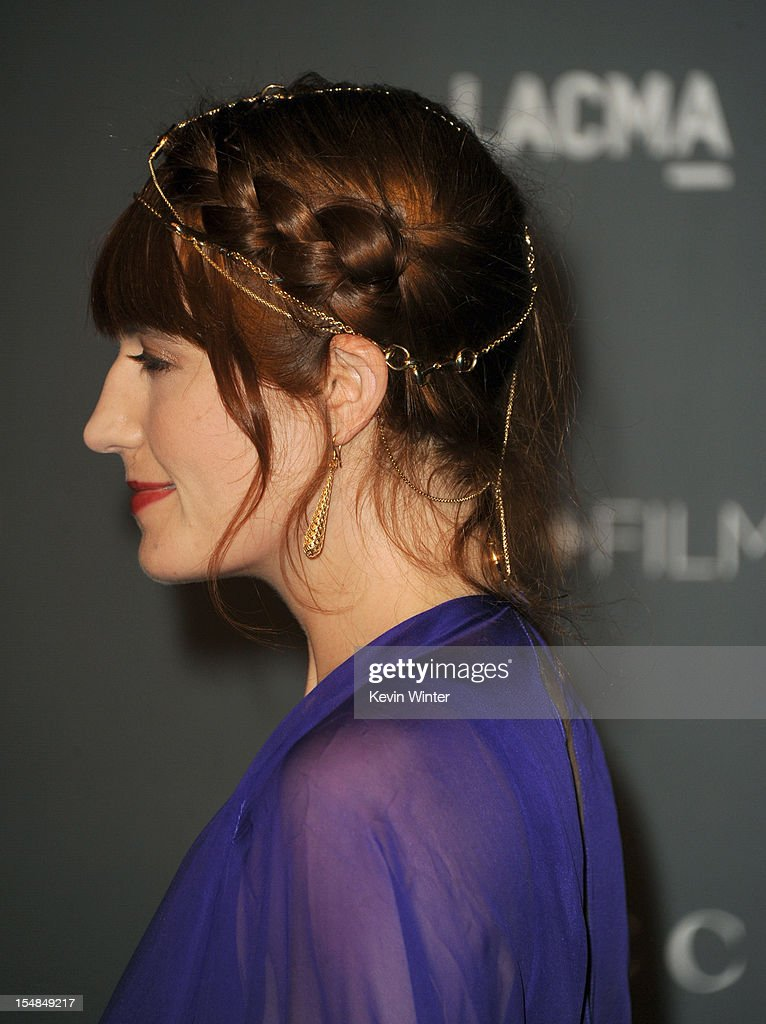 Singer Florence Welch arrives at LACMA 2012 Art + Film Gala at LACMA on October 27, 2012 in Los Angeles, California.