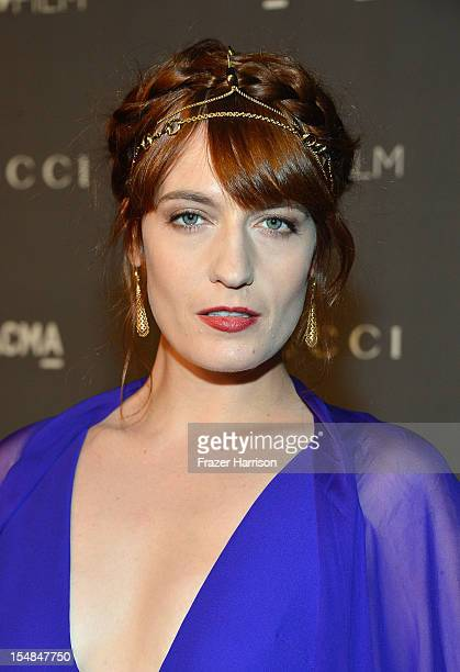 Singer Florence Welch arrives at LACMA 2012 Art Film Gala Honoring Ed Ruscha and Stanley Kubrick presented by Gucci at LACMA on October 27 2012 in...