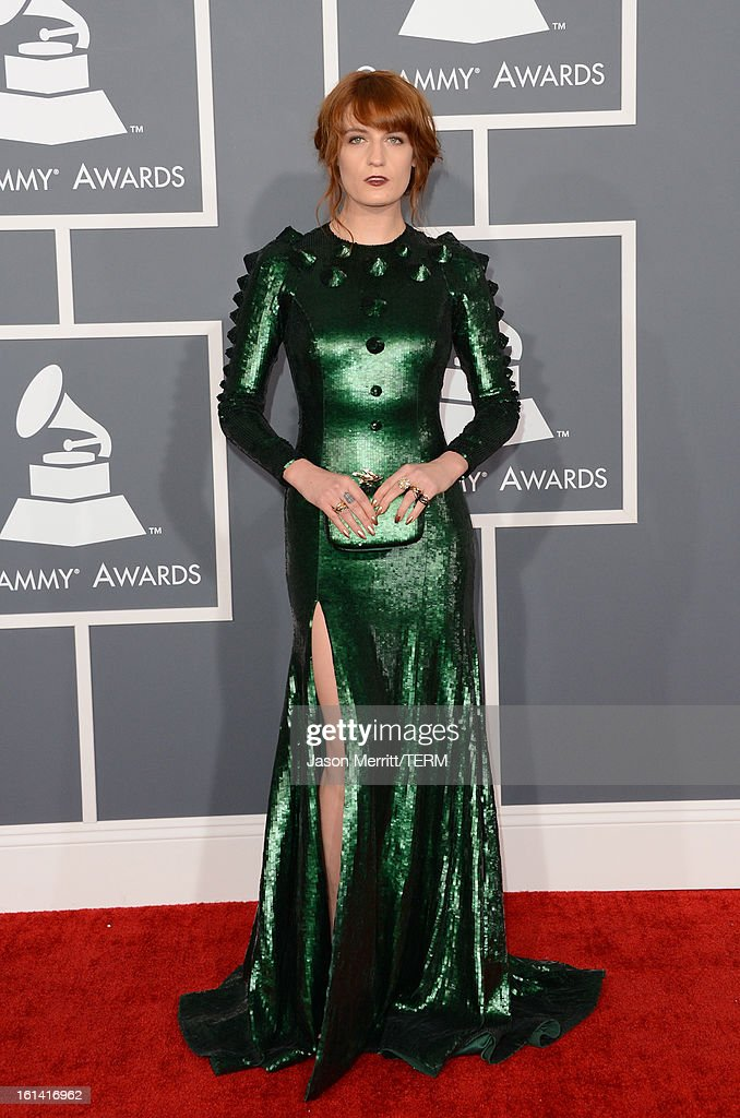 Singer Florence Welch arrives at the 55th Annual GRAMMY Awards at Staples Center on February 10 2013 in Los Angeles California