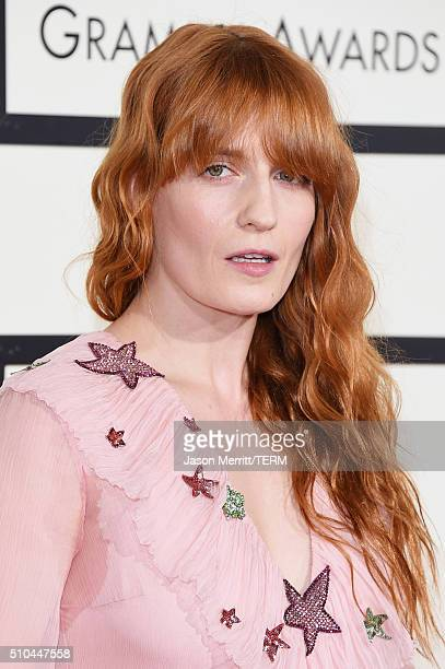 Singer Florence Welch attends The 58th GRAMMY Awards at Staples Center on February 15 2016 in Los Angeles California