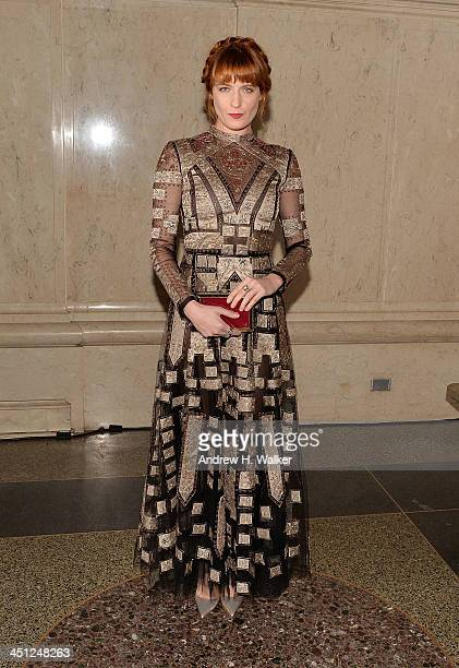 Singer Florence Welch attends the American Museum Of Natural History's 2013 Museum Gala at American Museum of Natural History on November 21 2013 in...