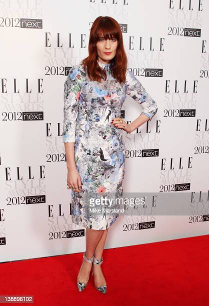 Singer Florence Welch attends the ELLE Style Awards 2012 at The Savoy Hotel on February 13 2012 in London England