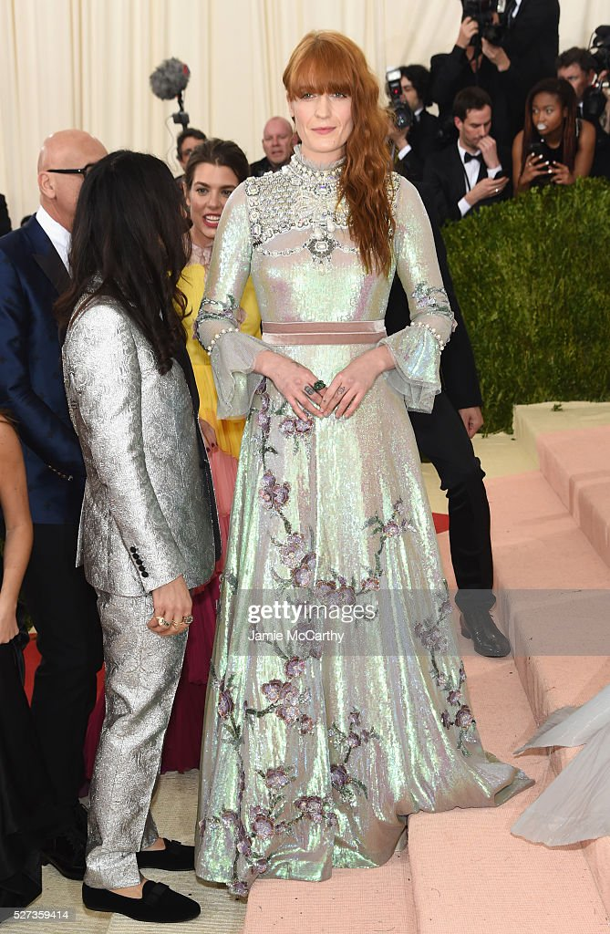 Singer Florence Welch attends the 'Manus x Machina: Fashion In An Age Of Technology' Costume Institute Gala at Metropolitan Museum of Art on May 2, 2016 in New York City.