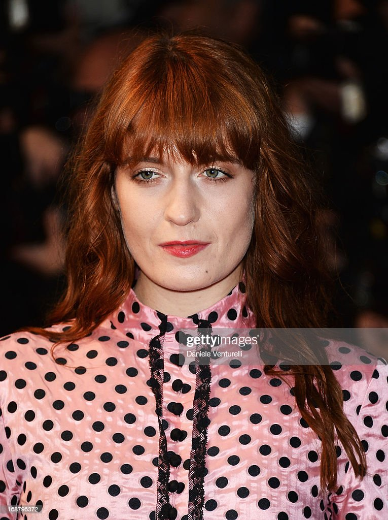 Singer Florence Welch attends the Opening Ceremony and premiere of 'The Great Gatsby' during the 66th Annual Cannes Film Festival at Palais des Festivals on May 15, 2013 in Cannes, France.