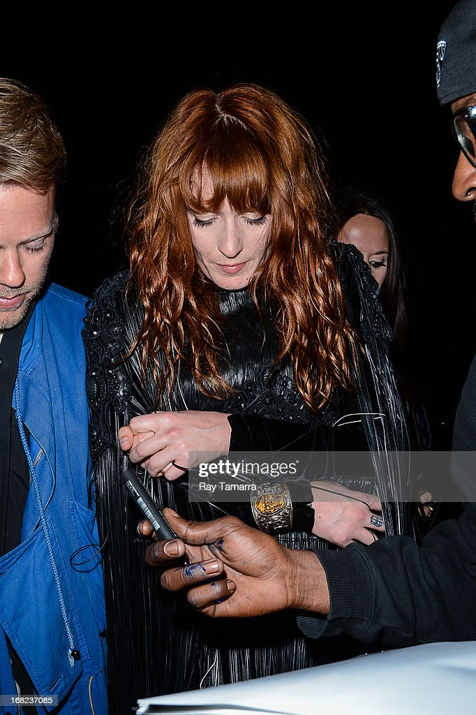 Singer Florence Welch leaves the 'PUNK: Chaos To Couture' Costume Institute Gala after party at the Standard Hotel on May 6, 2013 in New York City.