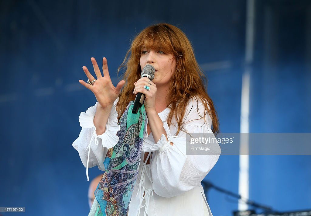 Singer Florence Welch of Florence and the Machine performs onstage at What Stage during Day 4 of the 2015 Bonnaroo Music And Arts Festival on June 14, 2015 in Manchester, Tennessee.