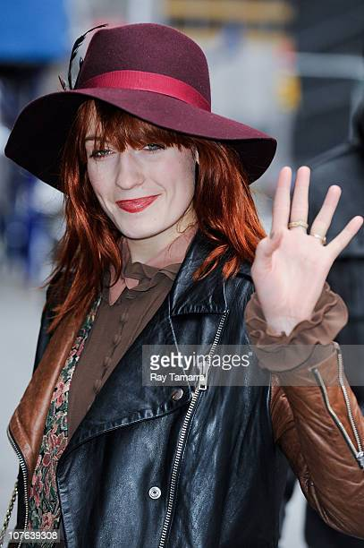 Singer Florence Welch visits the 'Late Show With David Letterman' taping at the Ed Sullivan Theater on December 16 2010 in New York City