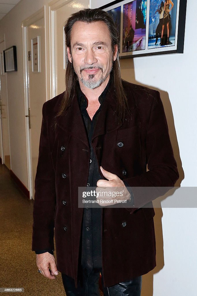 Singer <a gi-track='captionPersonalityLinkClicked' href=/galleries/search?phrase=Florent+Pagny&family=editorial&specificpeople=2322903 ng-click='$event.stopPropagation()'>Florent Pagny</a> presents his new album 'Vieillir avec toi' at the 'Vivement Dimanche' French TV show. Held at Pavillon Gabriel on April 23, 2014 in Paris, France.