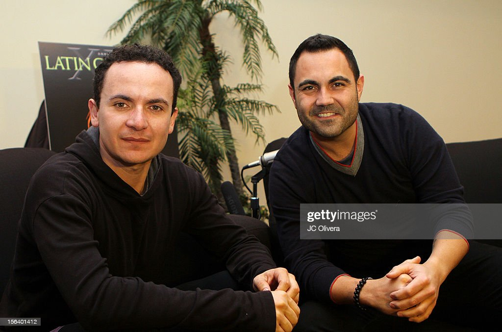 Singer Fonseca (L) and radio personality <a gi-track='captionPersonalityLinkClicked' href=/galleries/search?phrase=Enrique+Santos+-+Personnalit%C3%A9+de+la+t%C3%A9l%C3%A9vision&family=editorial&specificpeople=15214264 ng-click='$event.stopPropagation()'>Enrique Santos</a> attend the 13th annual Latin GRAMMY Awards Univision Radio Remotes held at the Mandalay Bay Events Center on November 14, 2012 in Las Vegas, Nevada.