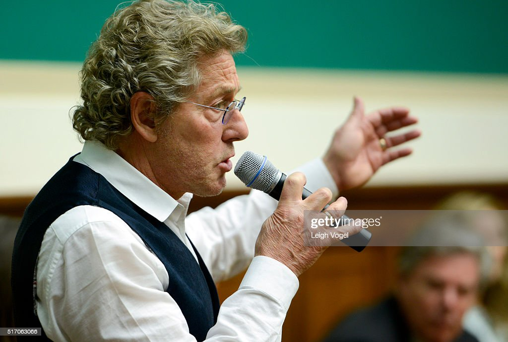 Singer for the Who and cofounder of Teen Cancer America Roger Daltrey joins House Representatives for 'Conversation on Child Cures' at Rayburn House...